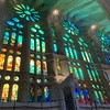 La Sagrada Familia Stained Glass Windows Barcelona Spain By Miss P