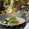 Avocado Salmon Cucumber Egg Bagel Coffee Lunch By Miss P